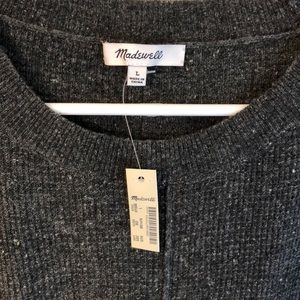 NWT Madewell Gray Lightweight Thermal Sweater